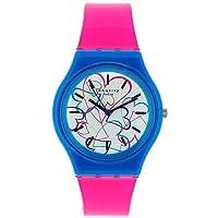 Identity London Ladies Multi Colour Dial Hot Pink Plastic Strap Watch 283/9592