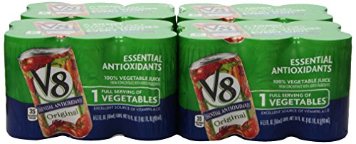 V8 Original 100% Vegetable Juice, Six 5.5 Ounce Cans (Pack Of 8)