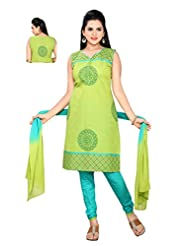 Ritu Creation Women's New Cotton Stitched Chudidar Suit With Top Printed