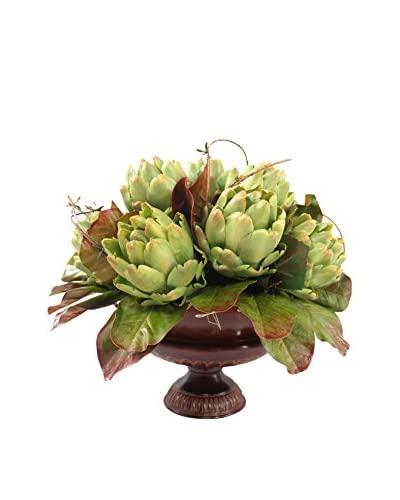 Creative Displays Artichoke Urn, Green/Brown