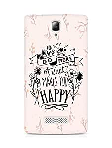 AMEZ do more of what makes you happy Back Cover For Lenovo A2010
