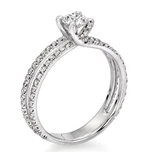 Certified, Round Cut, Solitaire Diamond Ring in 18K Gold / Yellow (3/4 ct, G Color, I1 Clarity)