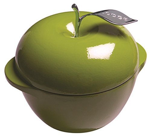 Lodge L Series E3AP50 Enameled Cast Iron Apple Pot, Apple Green, 3-Quart (Lodge Cast Iron Green compare prices)
