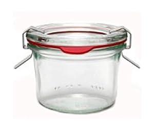 12 Weck Gläser 80 ml Einmachgläser Sturzgläser Weckgläser / inkl Einkochringe Klammern Glasdeckel
