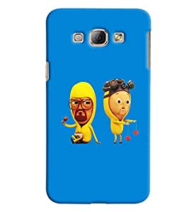 Blue Throat Man And Women In Cartoon Printed Designer Back Cover/ Case For Samsung Galaxy A8