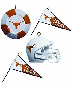 NCAA Texas Longhorns Four-Pack Sports Ornaments