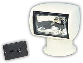 Jabsco 60020-0000 Marine 135SL Remote Control Marine Halogen Searchlight 12-Volt 10-Amp 100000CP Joy