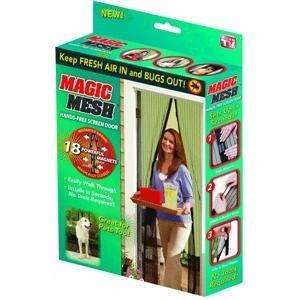 """Magic Mesh Hands-Free Screen Door 83"""" L X 19.5"""" W Boxed"""