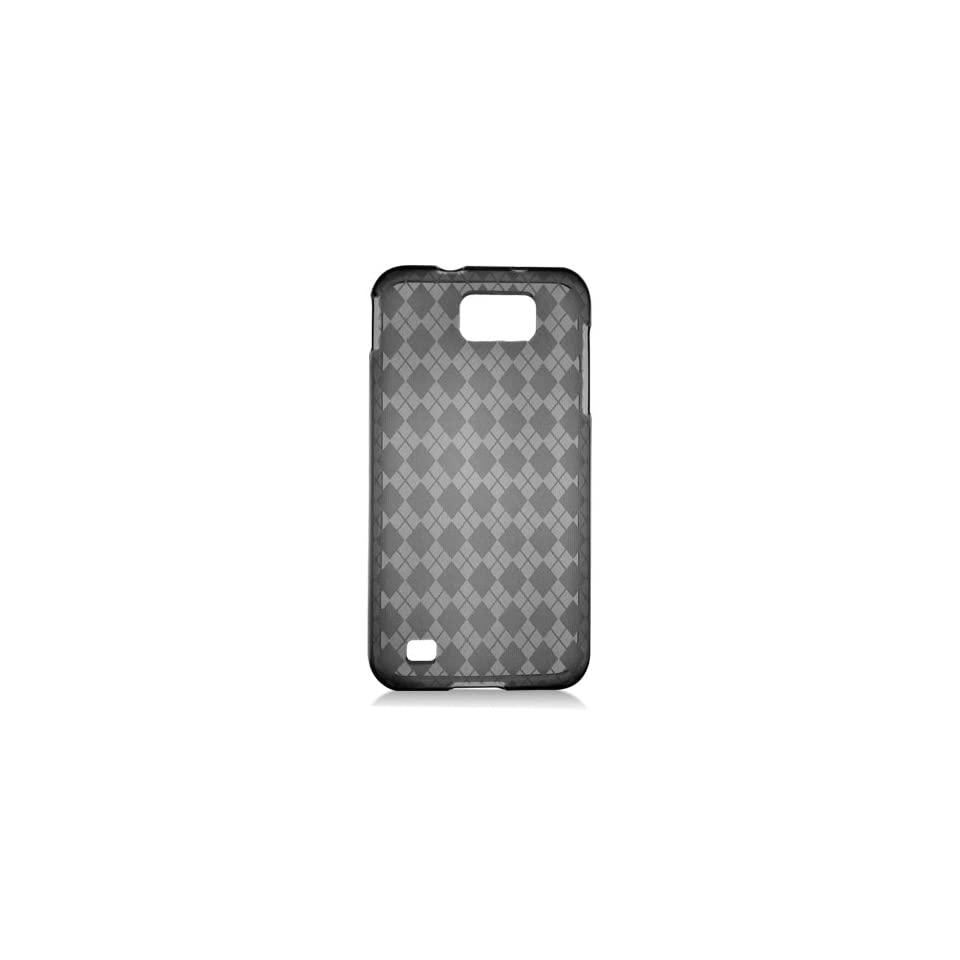 Black Clear Clear Hexagon Flex Cover Case for Samsung Galaxy S2 HD LTE SGH i757 Cell Phones & Accessories