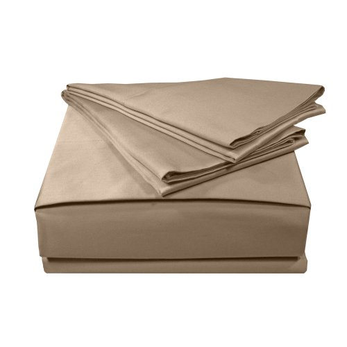 MADE IN THE USA 500TC 100% Cotton Sateen Solid Sheet Set, California King, Taupe By Veratex (Usa Made Sheets compare prices)