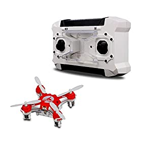 TEC.BEAN Mini Pocket Drone 4CH 6 Axis Gyro RC Micro Quadcopter with 3D Flip, Headless Mode, One Key Return Nano Copters RTF Mode 2 (RED)