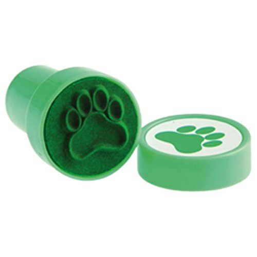 Lot Of 6 Green Dog Puppy Paw Print Mini Stampers - 1