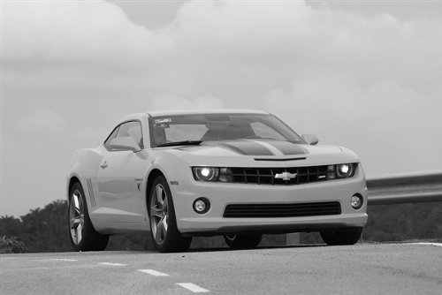 Chevy Camaro SS Bumble Bee HD Black & White Poster
