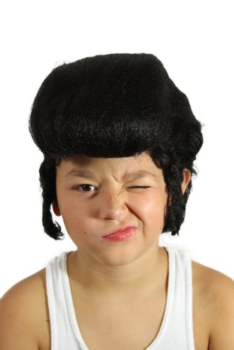 My Costume Wigs Boy's Kid's Elvis Wig (Black) One Size fits all