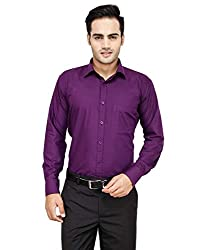 Frankline Men's Formal Shirt (Frankline-16_ Purple _40)
