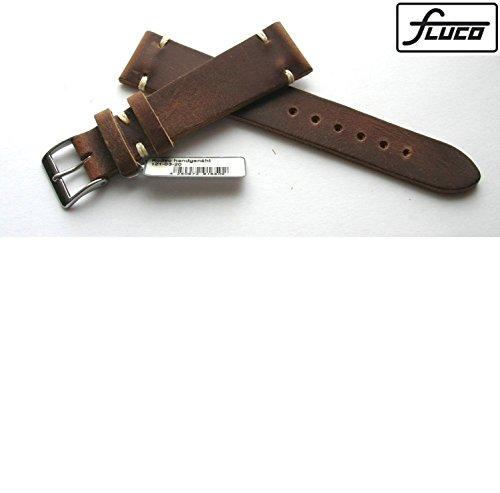 fluco-piel-banda-used-look-shabby-chic-color-marron-20-mm-mano-vernaht-fabricado-en-alemania