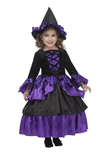 Just Pretend Kids Bat Witch Fairy Costume with Hoop and Hat, Large