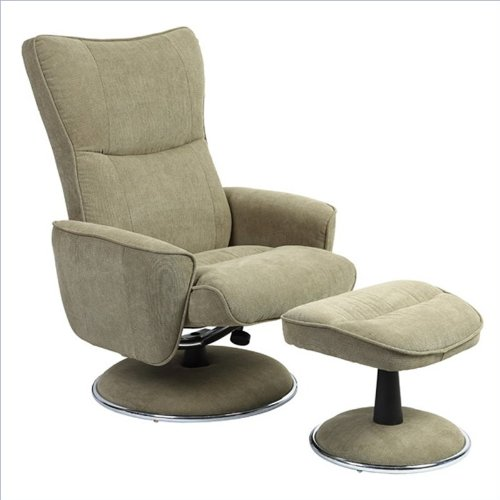 Swivel Recliner With Ottoman front-420945
