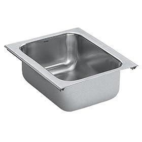 Moen 22350 Lancelot 12-Inch-By-9-Inch Single Bowl Kitchen Sink, Satin