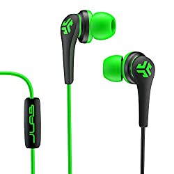 JLab Core Hi-Fi Noise Isolating earbuds with Mic and Cush Fin Technology (Green/Black)