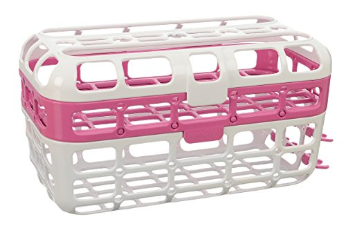 Munchkin High Capacity Dishwasher Basket, Pink - 1