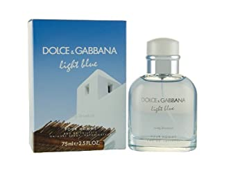 Dolce and Gabbana Light Blue Living Stromboli Pour Homme Eau de Toilette Spray for Men, 2.5 Ounce