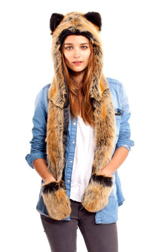 Authentic Red Wolf Full Hood By Spirithoods