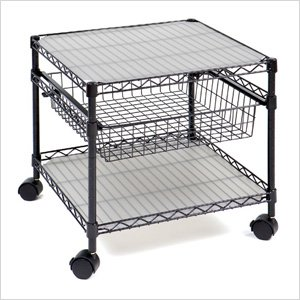 Seville Classics SHE16229 2-Shelf Rolling Kitchen Cart