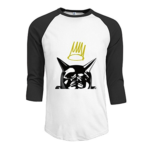 SAXON Men's Lovely Let Nas Down Crown Logo Raglan Shirt (Role Models Blu Ray compare prices)