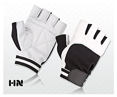 Weight Lifting Padded Leather Gloves Fitness Training Body Building Gym Sports & Cycling Wheel Chair Use by Kango Fitness