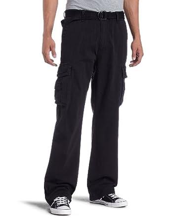 Unionbay Men's Survivor IV Cargo Pant, Black Belt, 29x30