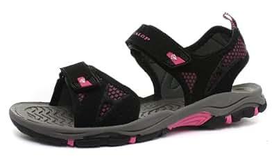 Dunlop Femme Walking / Sport Sandales, Noir, Pointure 41