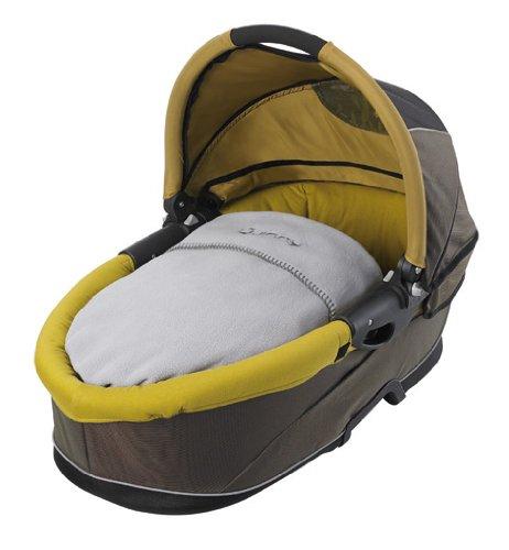 Imagen 1 de Quinny 64803050 Speedi - Capazo para sillas de paseo, incluye colchón, manta, mosquitera y protector para la lluvia, color marrón y ocre