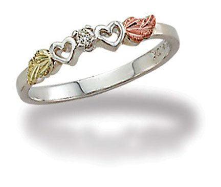 Landstroms Black Hills Silver Diamond Heart Ring - 02840XSS