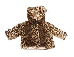 Bearington Bears Luxe Plush Leopard Baby Coat 12-24 Months