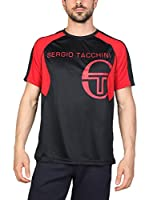 Sergio Tacchini Camiseta Manga Corta (Rojo / Negro)