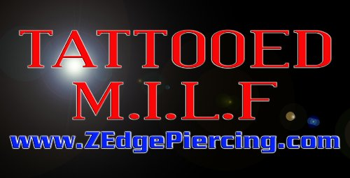 TATTOOED M.I.L.F Metal License Plate
