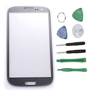 Generic New Faceplate LCD Screen Outer Glass Replacement for Samsung Galaxy S3 I9300 / Gray