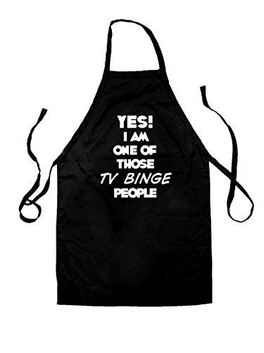 Yes! I Am One Of Those TV BINGE People - Kids Unisex Fit Apron - Black-7-10YRS