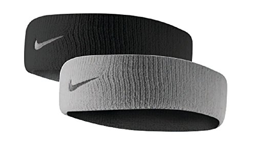 Nike Dri-Fit Home & Away Headband (One Size Fits Most, Black/Base Grey)