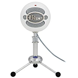 Blue Snowball USB Microphone プレアデスダイレクト限定品 Textured White