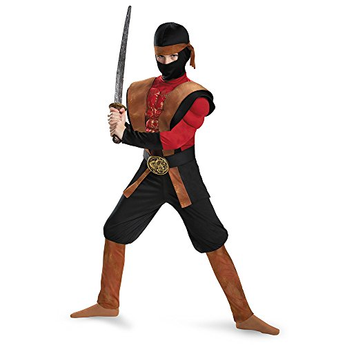 Disguise 85342G Ninja Warrior Muscle Costume, Large (10-12)