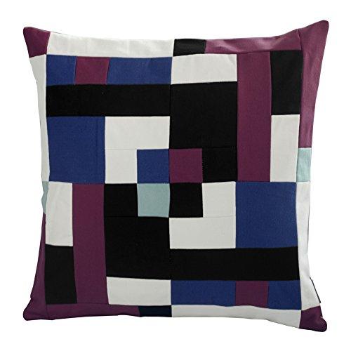 [Vortex]handgemachte Segeltuch dekorative Kissen einzigartigen Gitterkissen 48cm