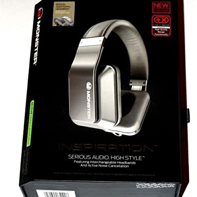 Brand NEW Monster Inspiration Noise Cancelling Over Ear Headphones Silver