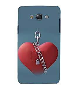 printtech Heart Lock Back Case Cover for Samsung Galaxy Grand Prime G530h