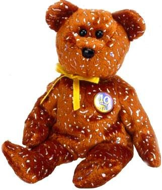 TY Beanie Baby - DECADE the Bear (Brown Version - Internet Exclusive) - 1