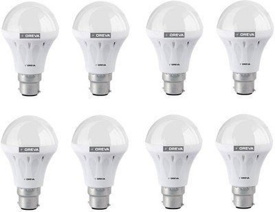 Eco 12W LED Lamp (White, Pack of 8)