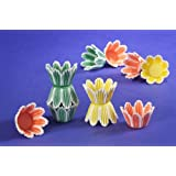 Jubilee Sweet Arts 60 Count Spring Flower Tulip Muffin Cupcake Baking Cups, Mini