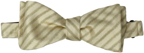 Countess Mara Men'S Party Dazzle Stripe Bowtie, Natural, 14.5/20 Inch