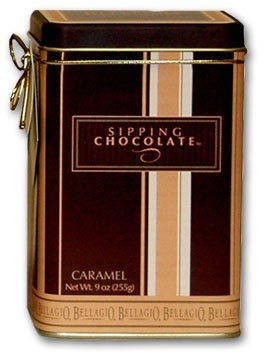 BELLAGIO Gourmet Sipping Chocolate Dessert Beverage in the European Tradition, Caramel Flavored (Gourmet,Bellagio,Gourmet Food,Beverages)